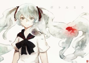Rating: Safe Score: 36 Tags: animal bottle_miku fish hatsune_miku kuro_sakura vocaloid User: FormX