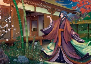 Rating: Safe Score: 27 Tags: black_hair braids flowers japanese_clothes kimono long_hair manabu_adachi User: noitis