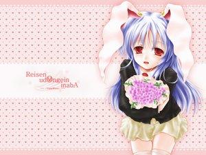 Rating: Safe Score: 10 Tags: animal_ears bunny_ears bunnygirl flowers reisen_udongein_inaba touhou User: Oyashiro-sama