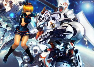 Rating: Safe Score: 27 Tags: boots bow hokoodo mecha original User: opai