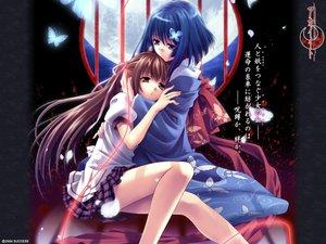 Rating: Safe Score: 45 Tags: akai_ito butterfly hatou_kei hatou_yumei japanese_clothes moon petals school_uniform shoujo_ai User: Oyashiro-sama