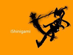 Rating: Safe Score: 63 Tags: ipod orange original parody rakkou scythe silhouette stars weapon User: KyarakoSan