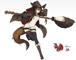 Rating: Safe Score: 69 Tags: boots brown_eyes brown_hair gloves goggles hat lansane long_hair original signed tail thighhighs witch witch_hat zettai_ryouiki User: RyuZU