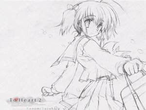 Rating: Safe Score: 10 Tags: mitsumi_misato monochrome sketch to_heart_2 white User: 秀悟
