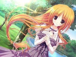 Rating: Safe Score: 98 Tags: dress feng game_cg hoshizora_e_kakaru_hashi long_hair orange_eyes orange_hair toudou_tsumugi tree tsurusaki_takahiro water User: Wiresetc