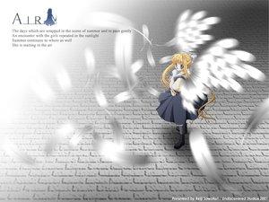 Rating: Safe Score: 0 Tags: air angel kamio_misuzu key signed visualart wings User: Oyashiro-sama