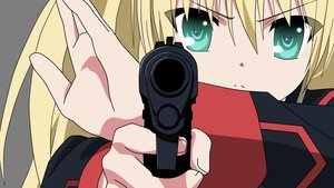 Rating: Safe Score: 26 Tags: blonde_hair close green_eyes gun little_busters! tokido_saya transparent vector weapon User: kayano_