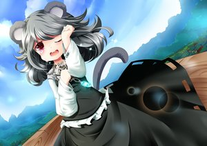Rating: Safe Score: 38 Tags: animal_ears crying dress gray_hair koha long_hair mousegirl nazrin tail tears touhou User: C4R10Z123GT