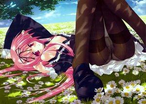Rating: Questionable Score: 167 Tags: flowers garden_(galge) himemiya_ruri nipples open_shirt panties pantyhose pink_hair scan tsurusaki_takahiro underwear User: opai