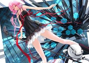 Rating: Safe Score: 202 Tags: dress fyu-neru guilty_crown microphone pink_hair red_eyes seedmyth yuzuriha_inori User: opai