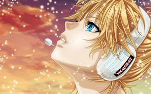 Rating: Safe Score: 33 Tags: all_male blonde_hair blue_eyes close clouds crying headphones kagamine_len male short_hair sky sunset tears vocaloid watermark User: gnarf1975