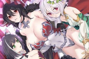 Rating: Safe Score: 58 Tags: aliasing animal_ears armor black_hair blush breast_hold breasts catgirl chain choker cleavage gray_hair green_eyes headdress ilya_ornstein karyl kokkoro leotard pd_(pdpdlv1) pointed_ears princess_connect! red_eyes User: otaku_emmy