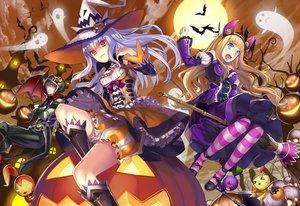 Rating: Safe Score: 117 Tags: fang halloween hat matsui_hiroaki original pumpkin witch witch_hat User: FormX