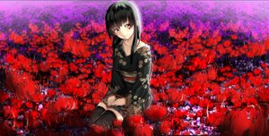 Rating: Safe Score: 288 Tags: black_hair enma_ai flowers hk_(zxd0554) japanese_clothes jigoku_shoujo jpeg_artifacts kimono long_hair thighhighs yukata User: gnarf1975