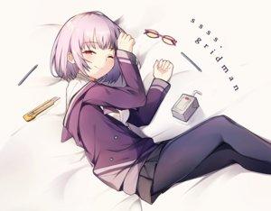 Rating: Safe Score: 34 Tags: dress glasses knife pantyhose pink_eyes purple_hair school_uniform shinjou_akane short_hair skirt ssss.gridman wink xoaiu User: otaku_emmy