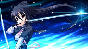 Rating: Safe Score: 106 Tags: black_hair game_cg katana long_hair petals ponytail red_eyes shirakawa_kou sword tiny_dungeon weapon User: Wiresetc