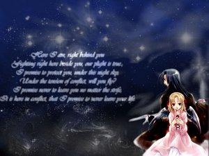 Rating: Safe Score: 9 Tags: black_hair blue_eyes dress gloves long_hair original ribbons stars sword tagme_(artist) weapon wings User: Oyashiro-sama