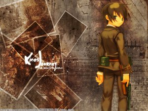 Rating: Safe Score: 27 Tags: brown_hair gray_eyes gun kino kino_no_tabi kuroboshi_kouhaku logo short_hair watermark weapon User: Oyashiro-sama