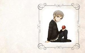 Rating: Safe Score: 6 Tags: apple craft_lawrence food fruit gray_hair ookami_to_koushinryou short_hair white User: wanjas