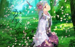 Rating: Safe Score: 62 Tags: animal bird cherry_blossoms flowers kannagi_crazy_shrine_maidens nagi User: Wizzard