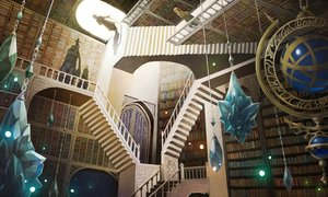 Rating: Safe Score: 27 Tags: book chain hat male original sachi_(yumemayoi) scenic stairs witch witch_hat User: RyuZU