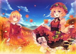 Rating: Safe Score: 30 Tags: 2girls aki_minoriko aki_shizuha autumn tagme_(artist) touhou User: StarryVoid
