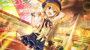 Rating: Safe Score: 22 Tags: blonde_hair chain hat ibuki_tsubasa idolmaster idolmaster_million_live! pink_eyes short_hair skirt tagme_(artist) tie wristwear User: RyuZU