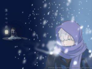 Rating: Safe Score: 14 Tags: ginko_(mushishi) mushishi scarf snow winter User: Oyashiro-sama