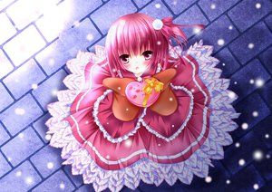 Rating: Safe Score: 61 Tags: dress kino_(pixiv1417953) minato_tomoka pink_hair ro-kyu-bu! snow valentine User: Wiresetc