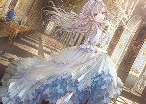 Rating: Safe Score: 83 Tags: apple228 bow brown_hair dress lolita_fashion long_hair original purple_eyes User: BattlequeenYume