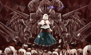Rating: Safe Score: 33 Tags: alice_margatroid armor blonde_hair blue_eyes book doll dress mage ribbons shanghai_doll short_hair spear touhou weapon User: w7382001