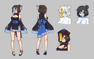 Rating: Safe Score: 36 Tags: breasts brown_hair chinese_clothes chinese_dress cleavage fang glasses gray hat mei_(overwatch) ofuda overwatch red_eyes short_hair terras User: otaku_emmy