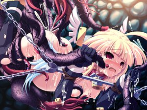 Rating: Explicit Score: 172 Tags: gouen_no_soleil skyfish tentacles User: 秀悟