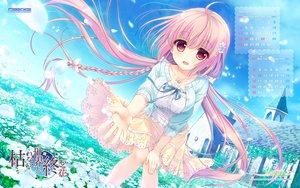 Rating: Safe Score: 128 Tags: ameto_yuki braids building calendar game-style haru_(karenai_sekai_to_owaru_hana) karenai_sekai_to_owaru_hana logo long_hair pink_eyes pink_hair sky sweet&tea watermark User: RyuZU
