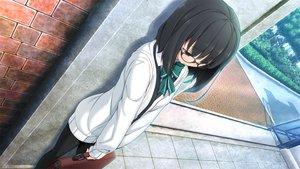 Rating: Safe Score: 93 Tags: bow game_cg glasses hinasaki jirai_soft short_hair susonobe_nami tree tsuisou_no_augment User: Maboroshi
