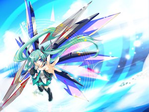 Rating: Safe Score: 35 Tags: haru_aki hatsune_miku twintails vocaloid User: HawthorneKitty