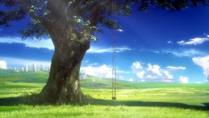 Rating: Safe Score: 101 Tags: clouds grass landscape leaves nobody scenic shade shelter sky tagme_(artist) tree User: Dummy