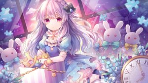 Rating: Safe Score: 65 Tags: clouds dress elbow_gloves gloves loli long_hair original pink_eyes pink_hair pjrmhm_coa ribbons sky waifu2x User: Nepcoheart