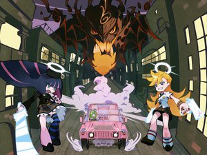 Rating: Questionable Score: 28 Tags: chuck gun panty_&_stocking_with_garterbelt panty_(character) see_through_(jeep) stocking_(character) sword tt_(poposujp) weapon User: Mund