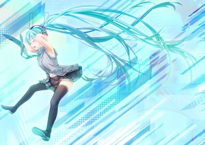 Rating: Safe Score: 70 Tags: geroro hatsune_miku long_hair vocaloid zettai_ryouiki User: FormX