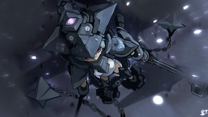 Rating: Safe Score: 34 Tags: aircraft armor bodysuit chain gray_hair mechagirl megami_device purple_eyes rtari short_hair signed sky weapon User: otaku_emmy