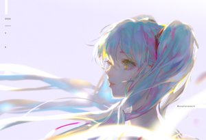 Rating: Safe Score: 29 Tags: blue_hair hatsune_miku long_hair say_hana twintails vocaloid watermark yellow_eyes User: FormX