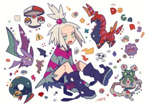Rating: Safe Score: 16 Tags: amoonguss auko bike_shorts boots crobat dress garbodor gray_hair green_eyes homika_(pokemon) koffing pokemon ponytail scolipede seviper short_hair shorts signed User: otaku_emmy
