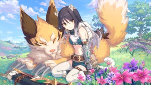 Rating: Safe Score: 65 Tags: animal animal_ears armor black_hair boots bow_(weapon) catgirl clouds elbow_gloves flowers gloves grass kashiwazaki_shiori long_hair navel princess_connect! skirt sky tagme_(artist) tail thighhighs tree weapon yellow_eyes User: otaku_emmy