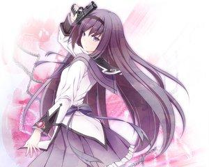 Rating: Safe Score: 72 Tags: akemi_homura gun long_hair mahou_shoujo_madoka_magica takano_suzu weapon User: Wiresetc
