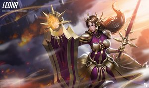 Rating: Safe Score: 53 Tags: armor brown_eyes brown_hair league_of_legends leona_(league_of_legends) liang_xing long_hair realistic sword watermark weapon User: RyuZU
