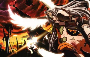 Rating: Questionable Score: 30 Tags: ass blood gray_hair scan shirogane_no_soleil sol_valkyrie tsurugi_hagane wings User: Wiresetc