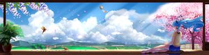 Rating: Safe Score: 80 Tags: animal aqua_hair barefoot bird blue_hair cherry_blossoms clouds dualscreen grass hatsune_miku headphones landscape long_hair scenic shorts sky tree vocaloid wei_ji User: Flandre93