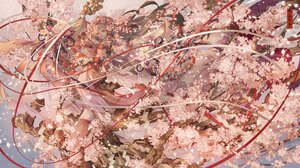 Rating: Safe Score: 31 Tags: bell brown_hair cherry_blossoms flowers japanese_clothes kimono long_hair nanahara_shie original ribbons tree User: BattlequeenYume