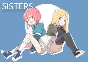 Rating: Safe Score: 20 Tags: 2girls blonde_hair blue bural_chingu hoodie kneehighs lee_ji-eun lee_ji-min long_hair luke_(dydansgur) pink_eyes pink_hair red_eyes short_hair thighhighs User: otaku_emmy